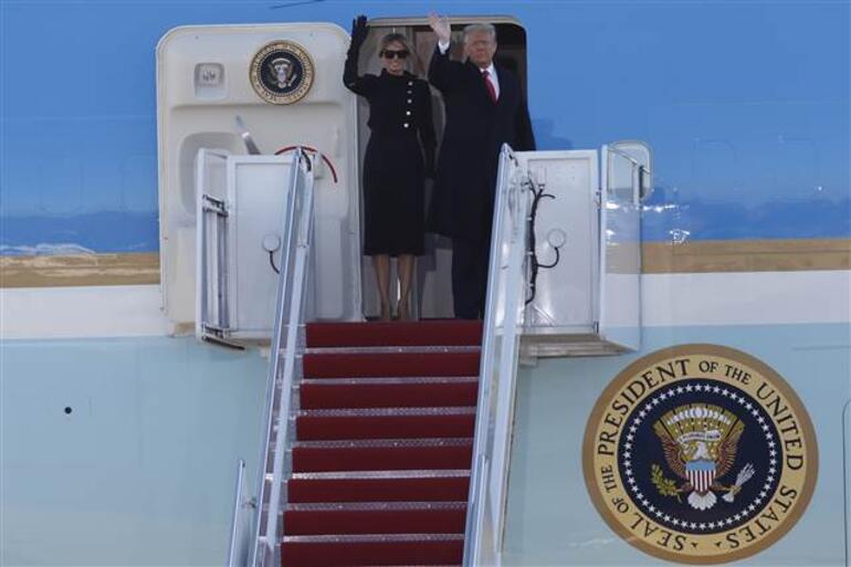 Dünya izliyor Trump Beyaz Saraydan ayrıldı, veda konuşmasını yaptı...