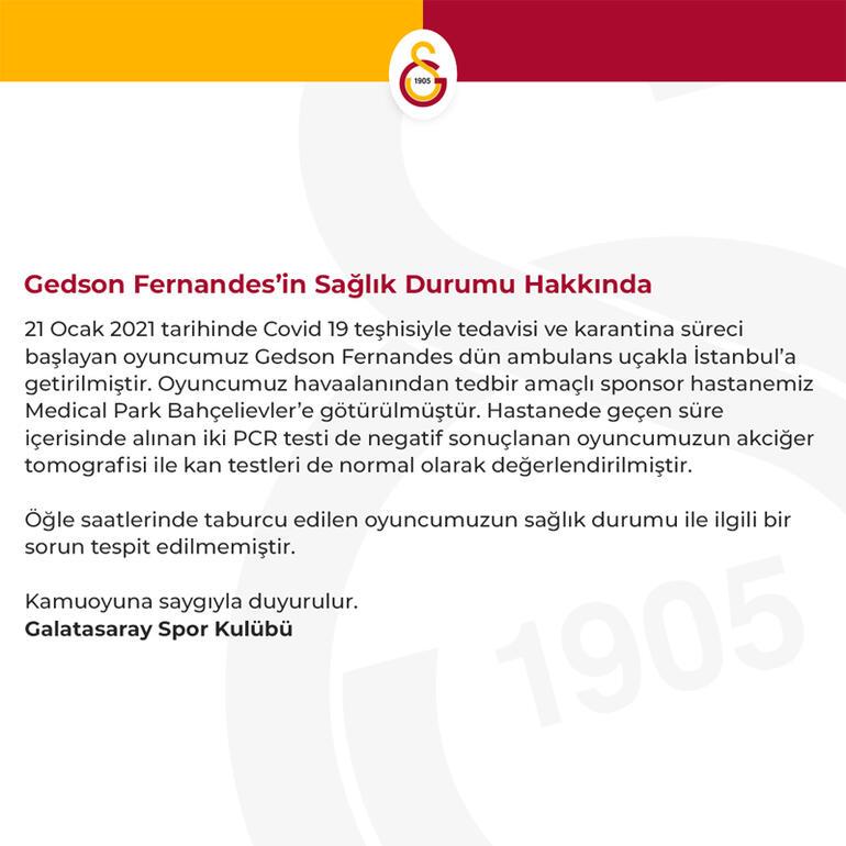 Galatasaraydan Gedson Fernandes açıklaması